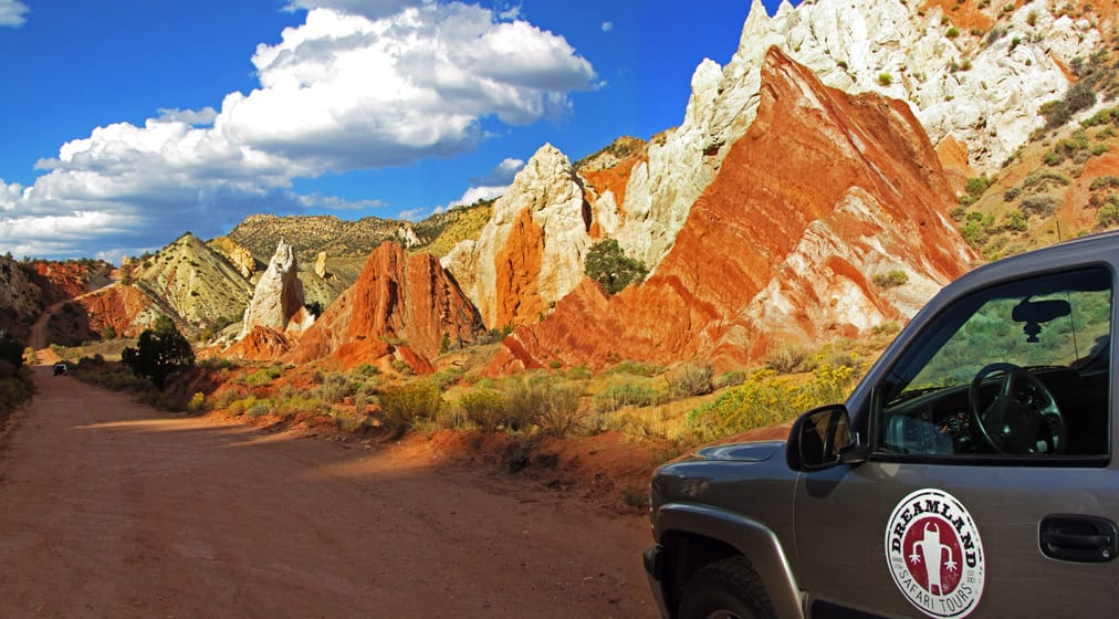 Dreamland Safari Tours truck in Grand Staircase-Escalante National Monument