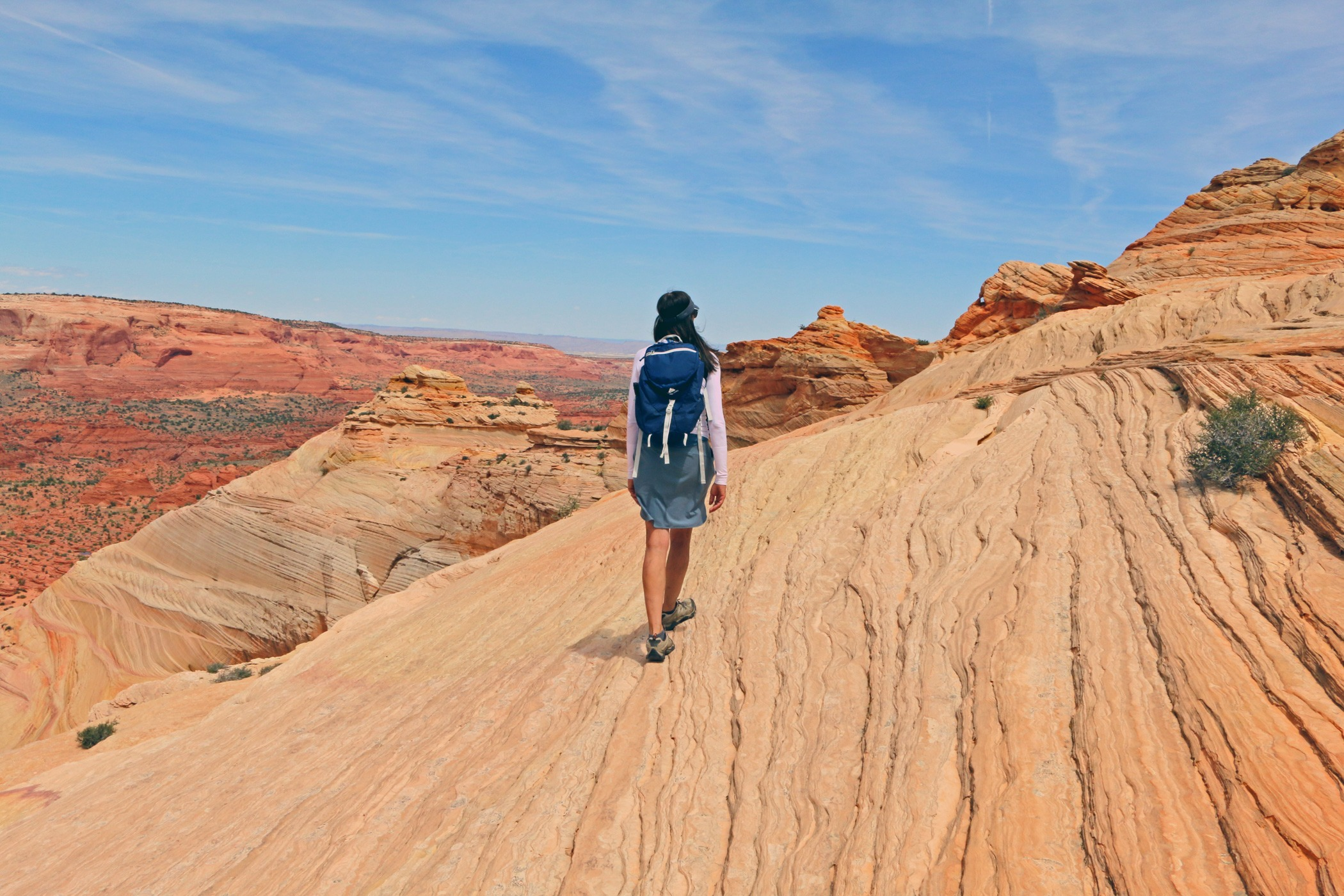 Woman hikes North Coyote Buttes