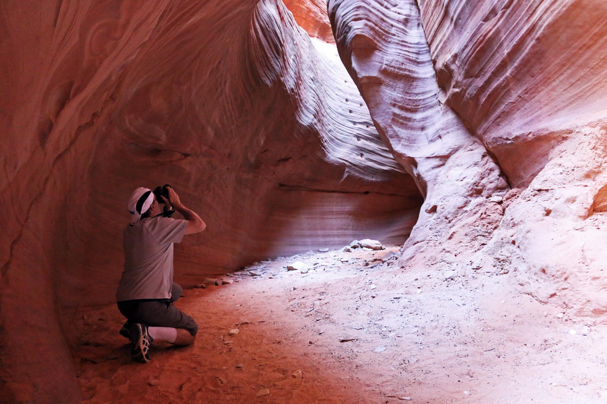 Man photographs Moqui steps