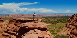 Man poses during South Coyote Buttes tour