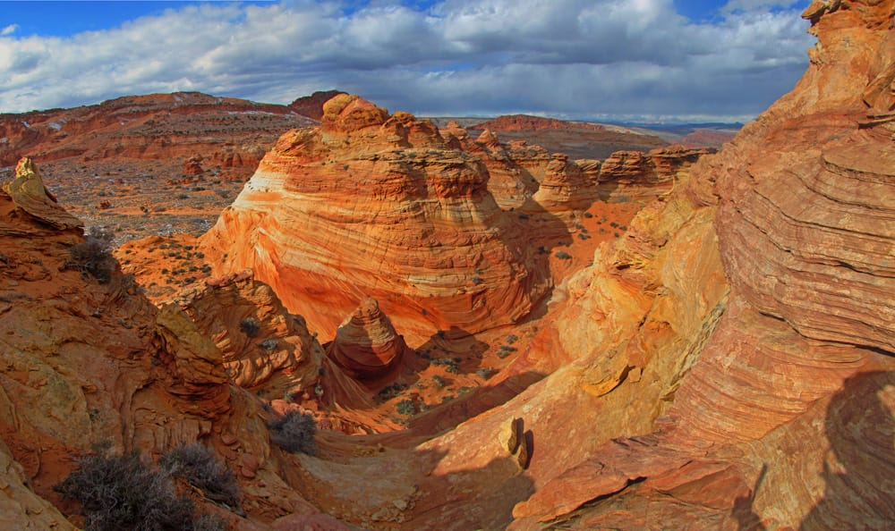 Sun sets at South Coyote Buttes