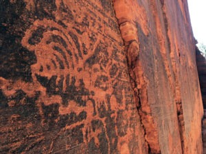 Petroglyphs at Rosy Canyon near Kanab