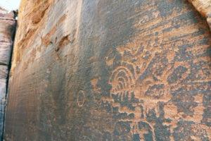 Petroglyphs at Rosy Canyon near Kanab