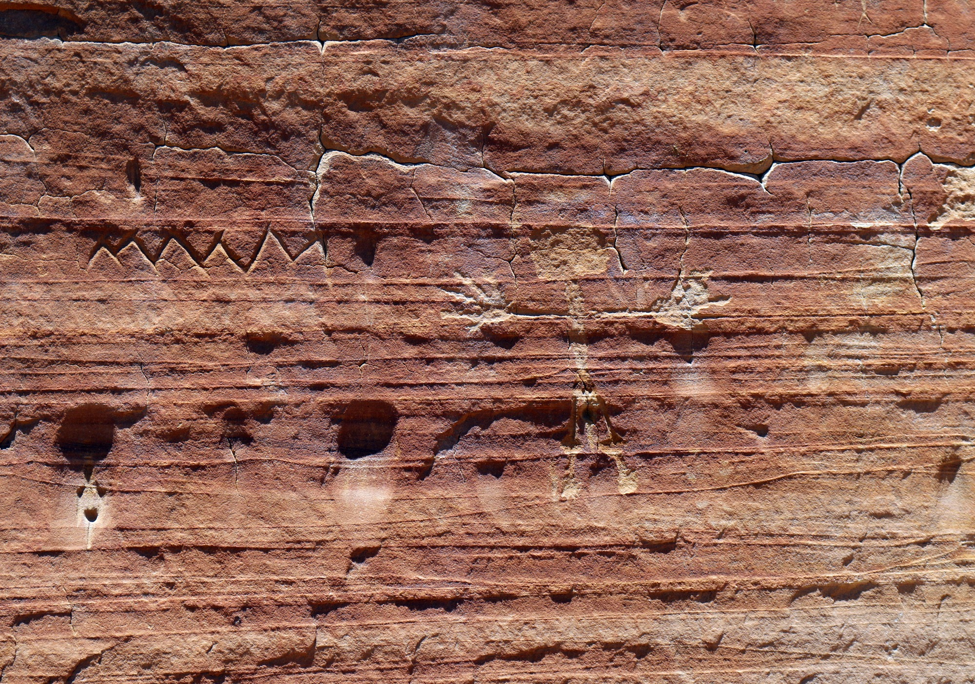 Petroglyphs at White Wave