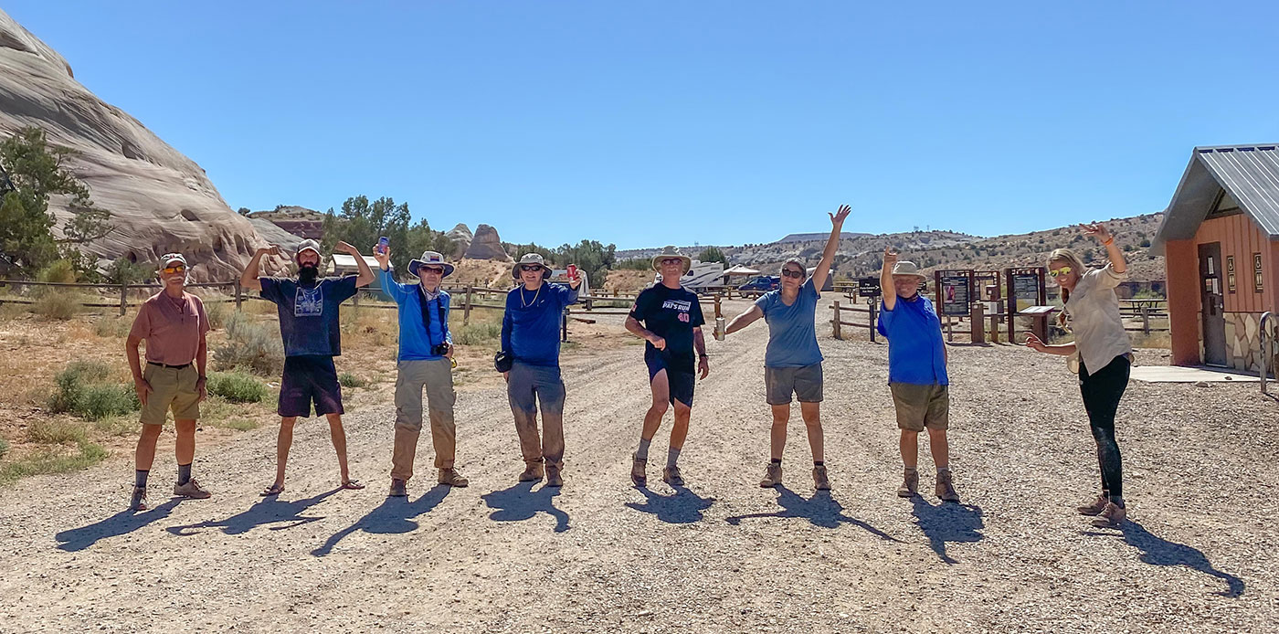 group of Dreamland Safari Tour Guides on land managed by the Bureau of Land Management