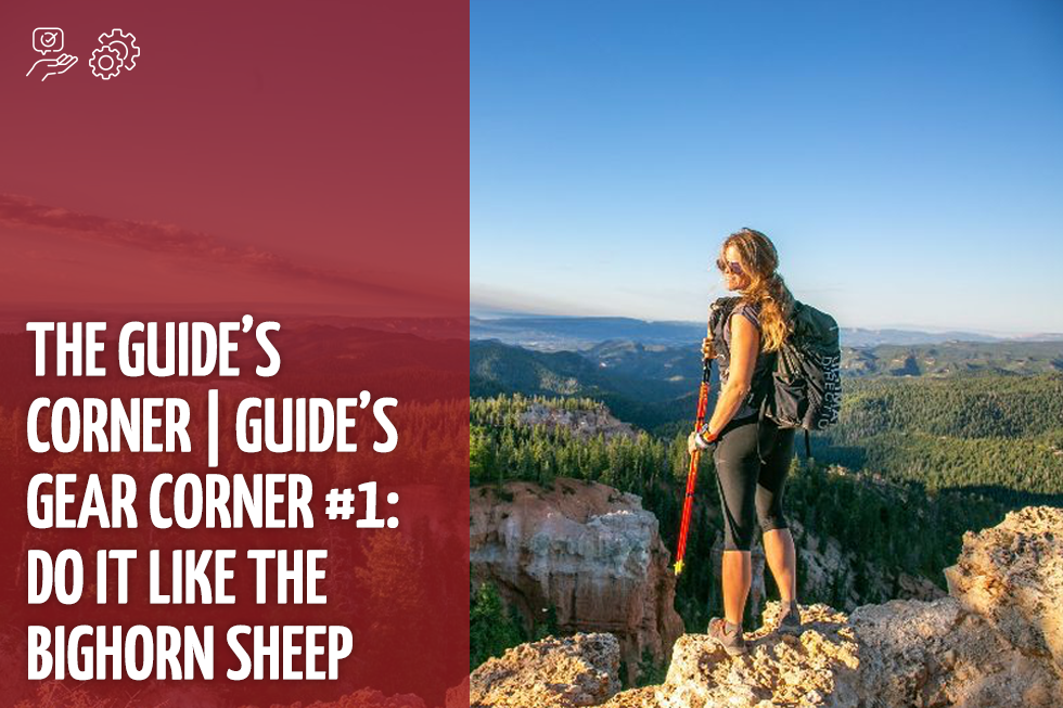 The Guide's Corner   Guide's Gear Corner #1: Do It Like the Bighorn Sheep